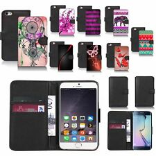 black pu leather wallet case cover for popular mobiles design ref a84