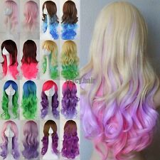 Fast Delivery Halloween Cosplay Wigs Curly Straight Wave Synthetic Anime Hair Wi