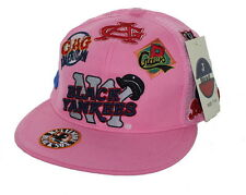 NEW NY Black Yankees Negro League Fitted Hat Embroidered Mesh Back Cap - Pink