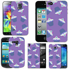 gel case cover for many mobiles - violet multi cupcakes silicone