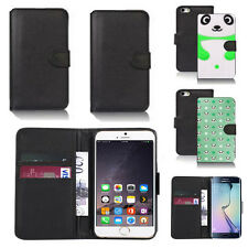 pu leather wallet case cover for apple iphone models design ref q185