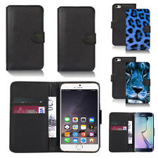 pu leather wallet case cover for apple iphone models design ref q37
