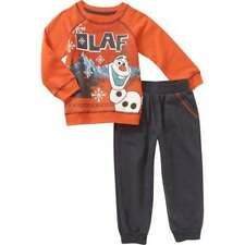 NEW! DISNEY FROZEN OLAF Toddler Boys Olaf 2 Piece Pants Set Outfit Size 4T, 5T