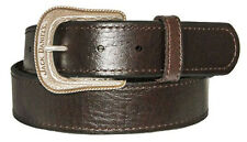 NEW! Brown Leather Jack Daniels's Belt, Removable Silver Tone Buckle Size 32-44
