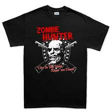 Zombie Hunter Walking Dead Halloween Mens T shirt Tee Top T-shirt