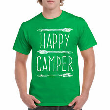 T Shirt Happy Camper S Tee Camping Sleeve Nature Top Outdoors Hike Summer