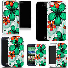 motif case cover for various Popular Mobile phones - green daisy bunch