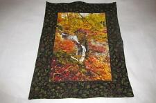 Handmade Quilted Table Topper Rectangle Fall Autumn trees waterfall wall hanging