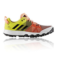 Adidas Kanadia 8 TR Womens Pink Yellow Running Sports Shoes Trainers Pumps