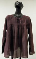 NWT Sacred Threads Cotton Lace  Boho  Gypsy Hippie Peasant Top BLOUSE  M