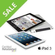 iPad 3 | 16GB 32GB 64GB | AT&T, Verizon or WiFi Only Tablet (Black or White)