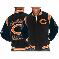 NEW AUTHENTIC G-III SUEDE LEATHER CHICAGO BEARS NFL MEN'S COAT JACKET S M L XL