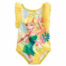 NWT Disney Store Tinker Bell Fairies Swimsuit 4 9/10