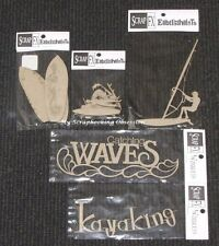 SCRAP FX Chipboard 'SURF & KAYAK' Embellishments (Choose from 5 Designs) Water