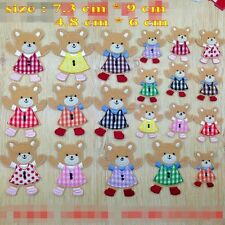 Kids Gifts 10PCS/SET Cute Bears Embroidery Iron/Sew on Patches Applique Motif
