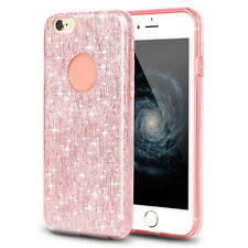 Luxury Bling Glitter Silicone TPU Hard Back Slim Case Cover For iPhone 6 6s Plus