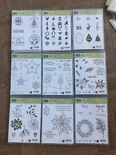 Stampin Up Retired Christmas: Watercolor Winter, White, Peaceful Wreath