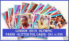 Choose Adrenalyn XL LONDON 2012 OLYMPIC GLITTER FOIL Card From 241 To 339 PANINI