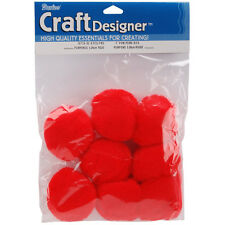 Poms Acrylic Red 2In 8Pc