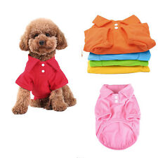 Pet Puppy Polo Shirt Small Dog Cat Pet Clothes Costume Apparel T-Shirt Summer