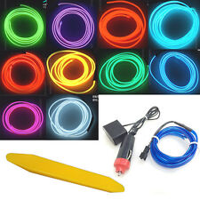 3M 2.3mm Neon LED Cold light EL Wire String Strip Rope Tube Car Dance Party 12V