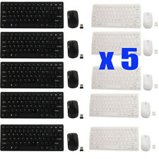 LOT 5 2.4G Optical Wireless Keyboard and Mouse USB Receiver Kit For PC Computer