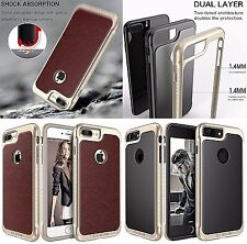LUXURY LEATHER Case For Apple iPhone 7 PLUS Back Cover Skin Premium Bumper Brown