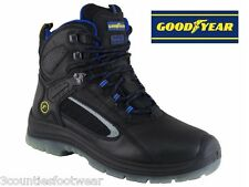 SAFETY BOOTS BLACK  GOODYEAR ENFIELD  STEEL TOE CAP WORK BOOTS Clearance