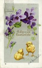 POSTCARD- A JOYOUS  EASTERTIDE - MARCH 17th 1913 ref: G5