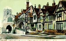 "WARWICK. ""LORD LEYCESTER HOSPITAL""  POST CARD  1905 REF: AUG 87"