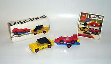 Lego Vintage Legland 650 Car with Trailer and R.Car + instructions + box. 70er