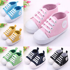New Infant Toddler Sneakers Baby Boy Girl Soft Sole Crib Shoes to 0-12Months WK