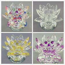 12CM CRYSTAL GLASS LOTUS  CANDLE HOLDER TEA LIGHT Weddind gift Home decor