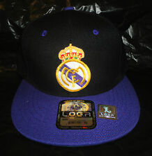 Real Madrid Two Tone Cap Hat Soccer Football Flat Bill snap back adjustable NEW