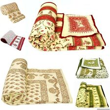 Mix Lot of 4 Pc Handmade Indian Jaipuri Double Bed Size Quilt Rajai
