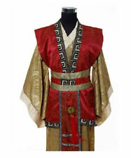 Red/Yellow Chinese Man Han Clothes Emperor Prince Show Cosplay Suit Robe Costume