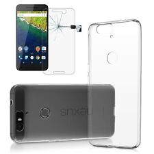 Huawei Google Nexus 6P Clear Case + Tempered Glass Screen Protector Bundle