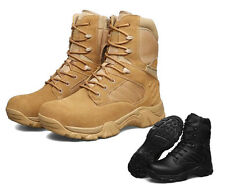 Mens Leather Military Tactical Army Desert Climbing Hiking Work High Top Boots