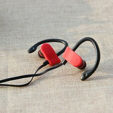 OVER EAR CLIP HEADPHONE HOOK SPORTS GYM JOGGING RUNNING EARPHONES WITH MIC WHITE