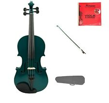 """New Student Green Viola & Bow+Case+2 Sets of Strings+Rosin 16""""15""""14""""13""""12""""11""""10"""""""