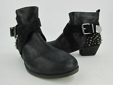 """NEW Vince Camuto """"Marcin"""" Black Leather Spiked Heel Women's Ankle Boot RTL$190"""