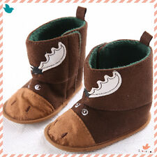 Cute Toddler Baby Boy Girl Crib Shoes Infant Soft Sole Warm Winter Boots 3 Size