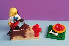 Custom LEGO German Shepherd Dog Food Puppy Pet Leash +- Birthday Minifig Cake