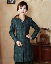 Charming Chinese Women's Silk embroidery jacket/coat Green Sz 8 10 12 14 16 18