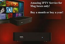 IPTV Subscriptions for Mag boxes ONLY Over 2700 Live TV Channels FREE PPV Events
