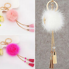1Pc Fur Ball Tassels Car Keychain Pendant Keys Handbag Phone Key Ring Stunning