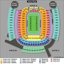 1 Pittsburgh Steelers vs New England Patriots Tickets 10/23 Sect ~ 216 ~