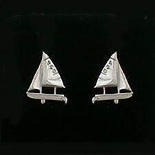 420 Sailboat Earrings - Post / Balls / Wires  Sterling Silver By Miami Opti Moms