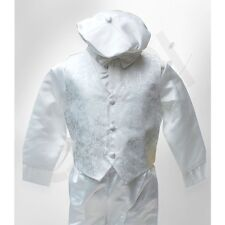 Baby Boys 5 Piece Ivory Christening Suit Baptism Outfit Paisley 0 to 24 Months