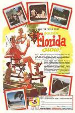 1955 Florida: Outwit Winter with that Golden Florida G Print Ad (12497)